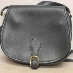 Coach Hunter Green Leather Saddle Crossbody 7148